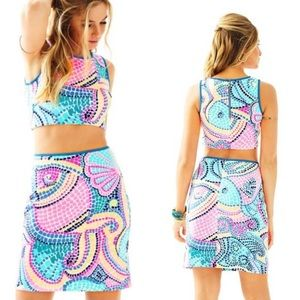 Lilly Pulitzer Kennedy Crop Top and Skirt Set